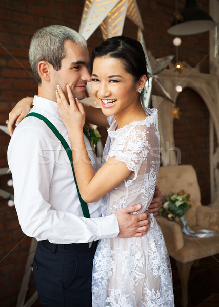 Cheerful happy married couple  Stock photo © dashapetrenko