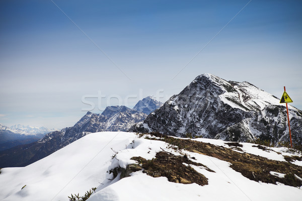 High mountains landscape view in Rosa Khutor Stock photo © dashapetrenko