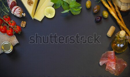 Raw organic vegetables with fresh ingredients for healthily cook Stock photo © dashapetrenko