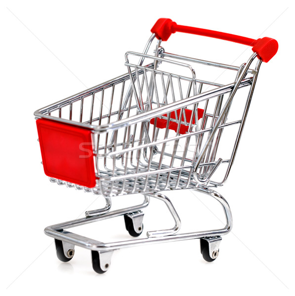 Shopping cart isolated on white Stock photo © dashapetrenko