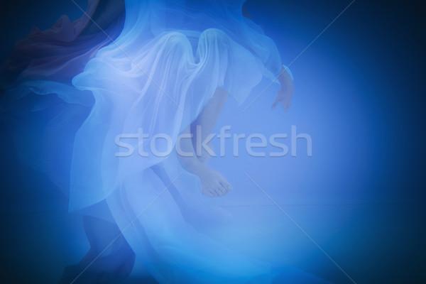 Sualtı kadın yüzme havuzu su yüz Stok fotoğraf © dashapetrenko