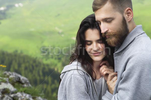 любящий пару Открытый молодые расслабляющая Сток-фото © dashapetrenko