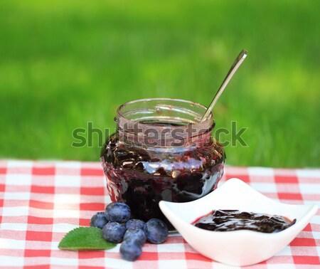 Jar of plum jam  Stock photo © dashapetrenko