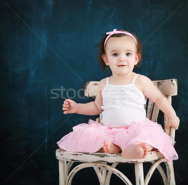 Portré egyéves baba visel balett öltöny Stock fotó © dashapetrenko