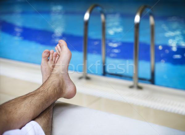 Napozás hotel turistaövezet úszómedence lusta idő Stock fotó © dashapetrenko
