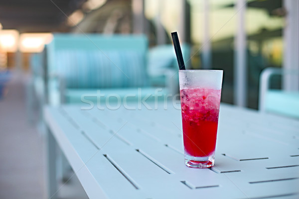 Cocktail glass on table outdoors Stock photo © dashapetrenko