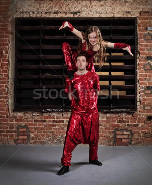 Dancers in action  Stock photo © dashapetrenko