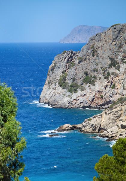 Beautiful sea landscape panorama of Crete Stock photo © dashapetrenko