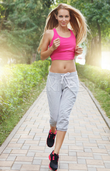 Sport fitness running young woman  Stock photo © dashapetrenko