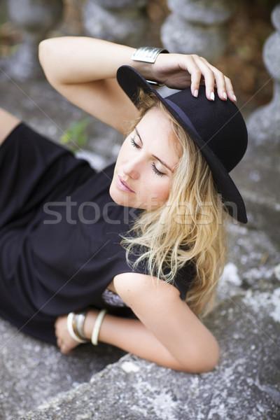 Fashion portrait of beautiful hippie young woman  Stock photo © dashapetrenko