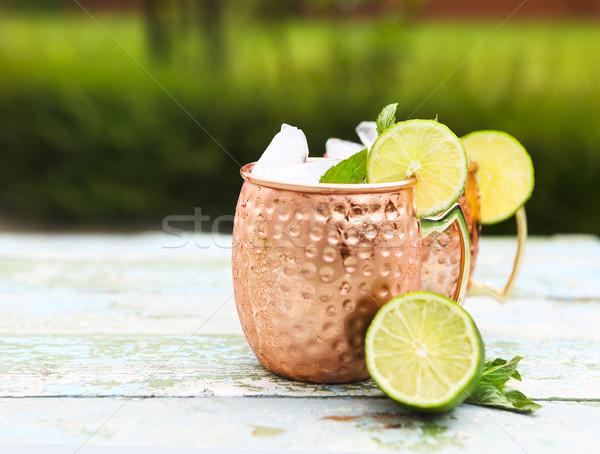 Naturale fatto in casa limonata rustico legno calce Foto d'archivio © dashapetrenko