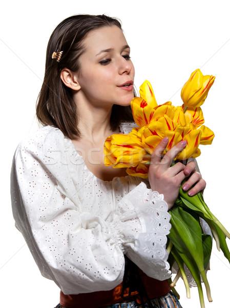 Beautiful smiling country girl  Stock photo © dashapetrenko