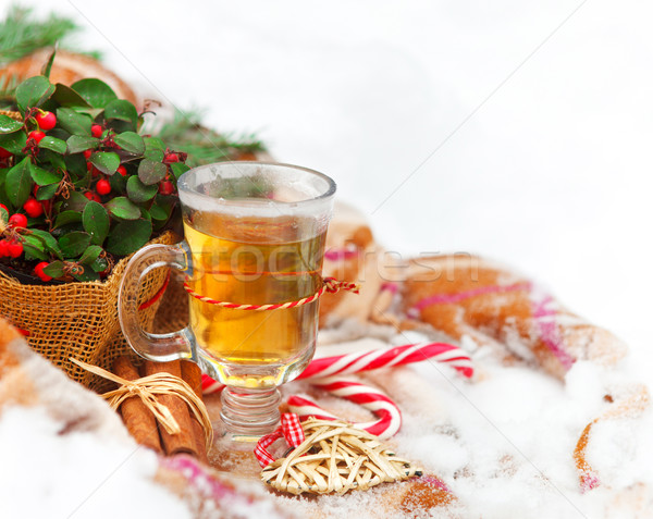 Christmas still life nestling in fresh snow Stock photo © dashapetrenko