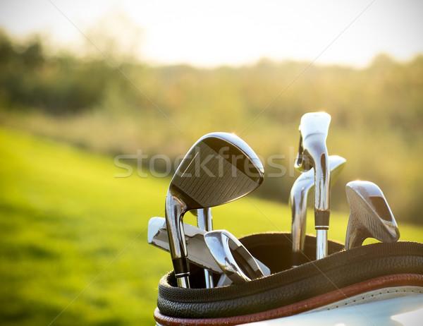 гольф-клубов зеленый области лет закат спорт Сток-фото © dashapetrenko