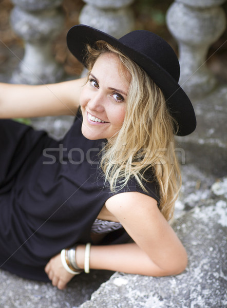 Fashion portrait of beautiful hippie young woman  Stock photo © dashapetrenko