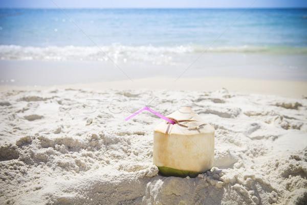свежие кокосового коктейль тропический пляж воды природы Сток-фото © dashapetrenko