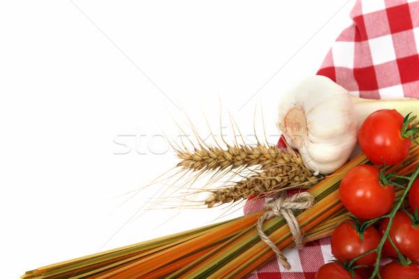 Italien pâtes cuisson ingrédients spaghettis ail Photo stock © dashapetrenko