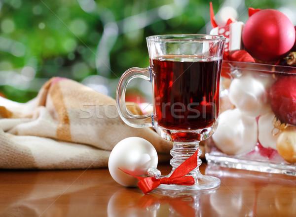Cranberry punch or red hot wine Stock photo © dashapetrenko