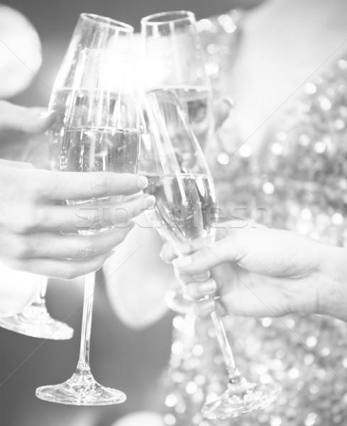 Celebración personas gafas champán Foto stock © dashapetrenko