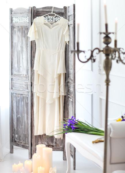 свадьба детали подвенечное платье утра вечеринка Сток-фото © dashapetrenko
