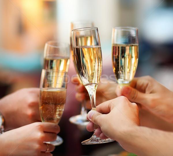 Celebration. People holding glasses of champagne  Stock photo © dashapetrenko