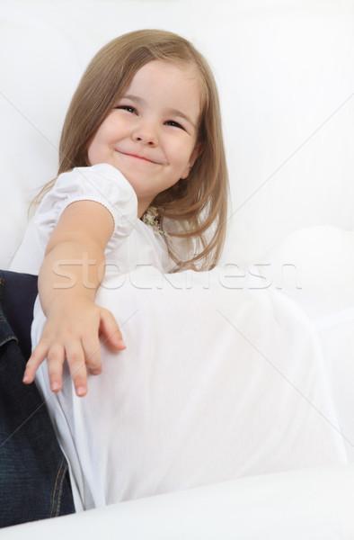 Photo stock: Petite · fille · maman · cute · femme · famille · main
