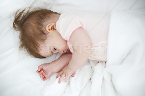 Six month baby sleep on bed  Stock photo © dashapetrenko
