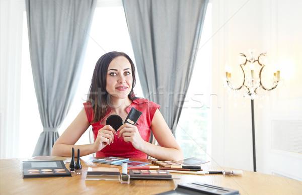 красоту красивый моде блоггер косметики Сток-фото © dashapetrenko