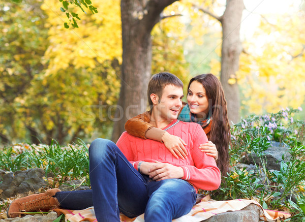 портрет пару осень Осенний сезон Сток-фото © dashapetrenko