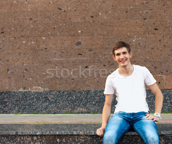 Happy smiling teenager  Stock photo © dashapetrenko