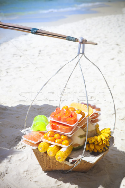 Thai fastfood on the beach Stock photo © dashapetrenko