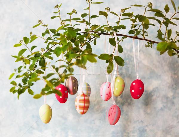 Paskalya paskalya yumurtası bahar çiçekleri çiçekler doğa iç Stok fotoğraf © dashapetrenko