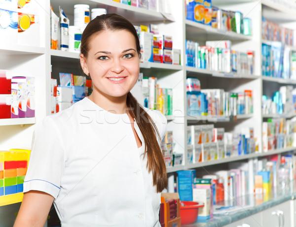 Portrait of female pharmacist Stock photo © dashapetrenko