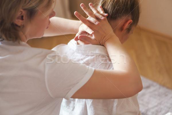 голову Плечи массаж Spa салона молодые Сток-фото © dashapetrenko