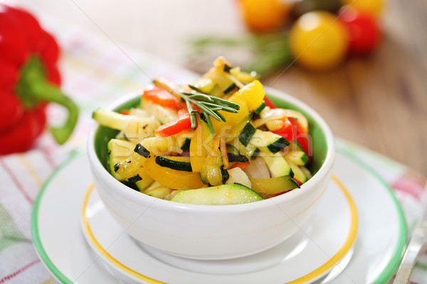 Ratatouille on white plate closeup  Stock photo © dashapetrenko
