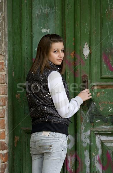 Open the door Stock photo © dashapetrenko