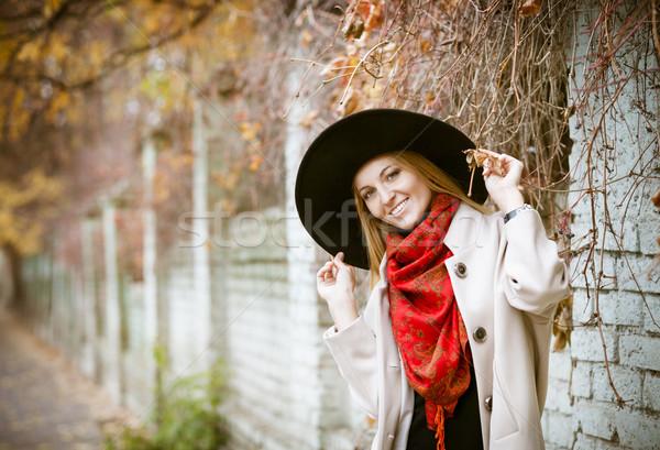 Beautiful young blond woman with long hair  Stock photo © dashapetrenko