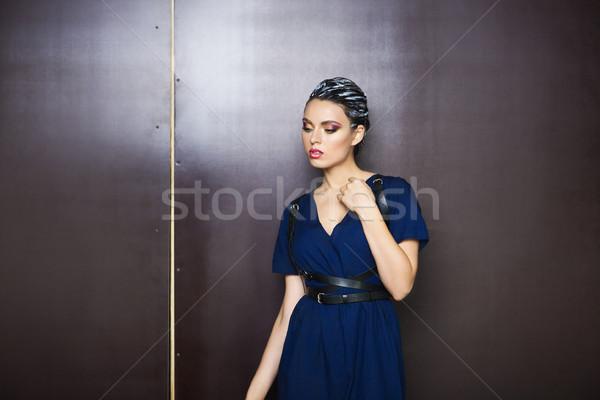 美しい 小さな ブルネット 女性 ファンタジー 化粧 ストックフォト © dashapetrenko