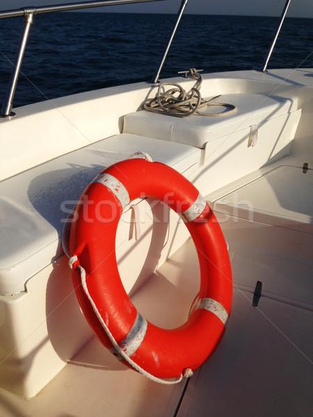 Close up of a lifebelt on a boat Stock photo © dashapetrenko