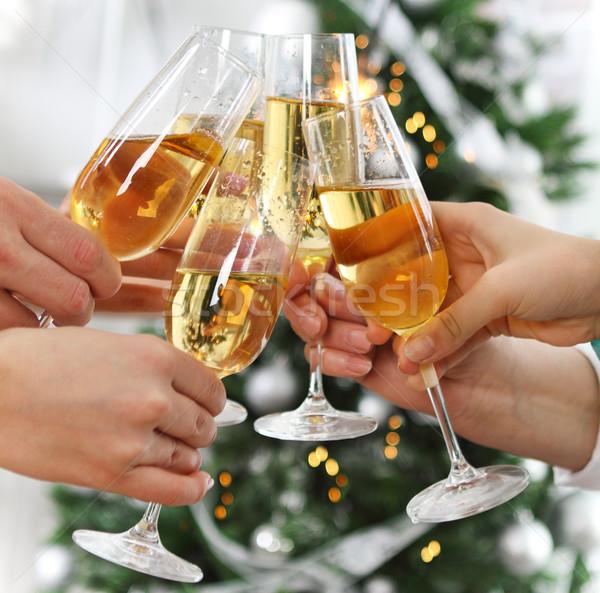 Сток-фото: Рождества · Новый · год · празднования · люди · очки