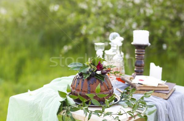 装飾された 花 薄緑 コピースペース 自然 ストックフォト © dashapetrenko