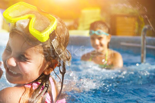 çocuklar oynama havuz iki Stok fotoğraf © dashapetrenko