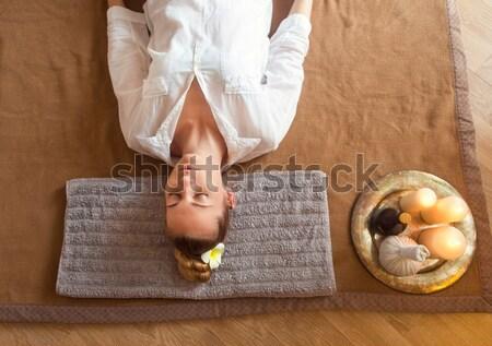 Masaje tratamiento salud centro mujer Foto stock © dashapetrenko