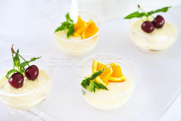 Snoep bar tiramisu citrus verjaardagsfeest details Stockfoto © dashapetrenko