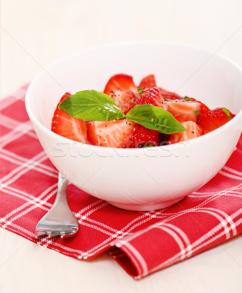 Fresh strawberry salad  Stock photo © dashapetrenko
