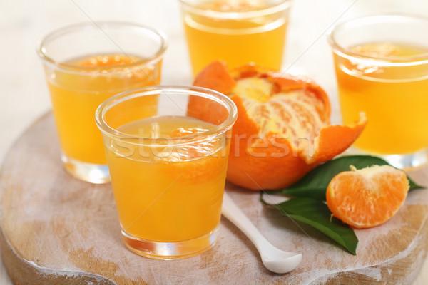Fruits gelée verre bol alimentaire Photo stock © dashapetrenko