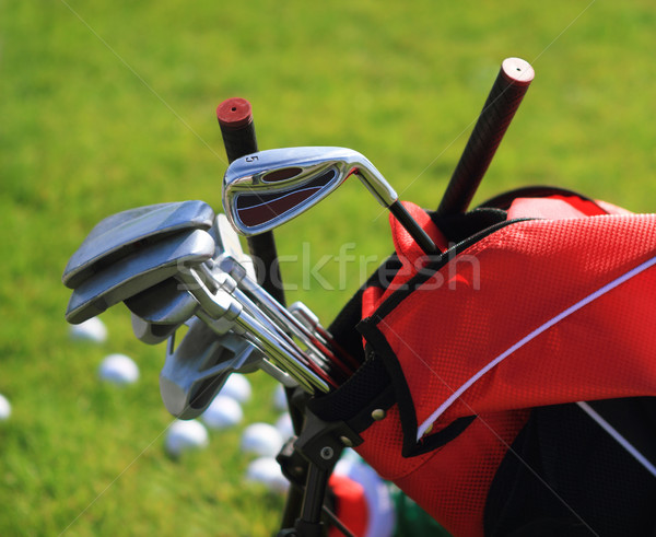 Golf clubs in golfbag Stock photo © dashapetrenko