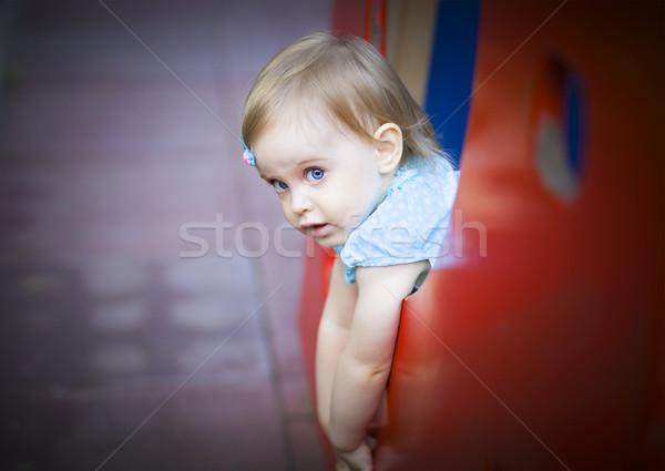 мало девушки площадка счастливым моде Сток-фото © dashapetrenko
