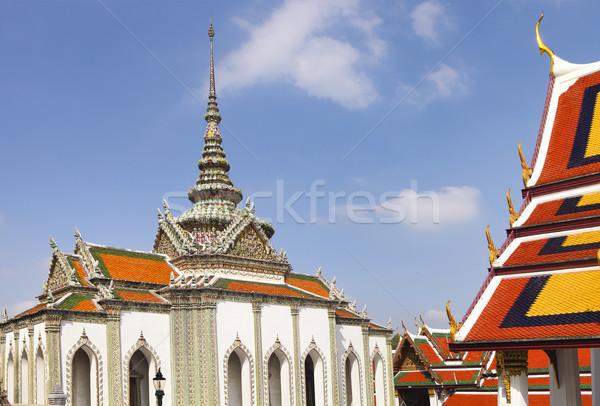 Temple émeraude Thaïlande détails bâtiment feuille Photo stock © dashapetrenko