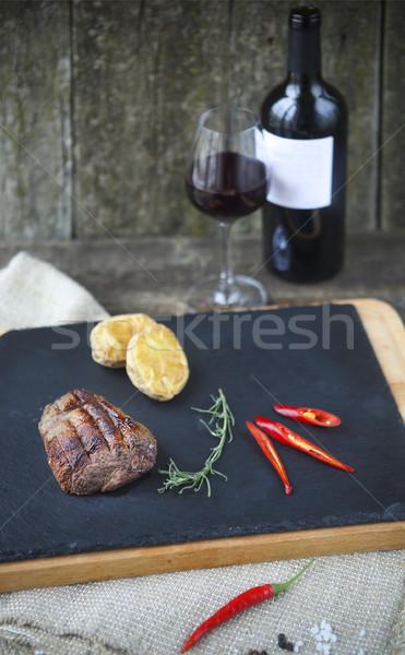 Churrasco bife churrasco grelhado bife carne Foto stock © dashapetrenko